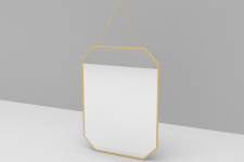 MIROIR ANGLES OBLIQUES X3 TAILLES FINITION OR M6