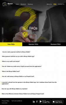 Ответ по клику на вопрос faq section