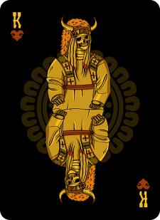 Spielkarten Indians- Skelette9