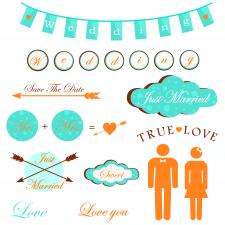 стикеры свадебная тематика