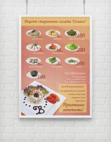 Плакат Инфографика для ресторана