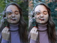 Базовая ретушь и цветокоррекция