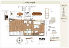 Концептуальный проект, дизайн интерьера