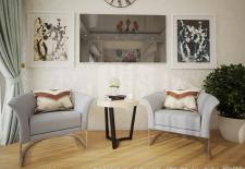 Дизайн и визуализация гостиной спальни.