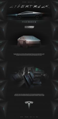 Cybertruck concept design landing page