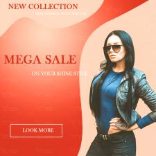 Баннер по продажу модного одягу