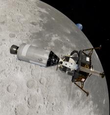 Лунный и командный модуль Аполлон-11