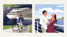 Иллюстрации для судоходной компании