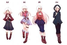 Дизайн персонажа в разном возрасте
