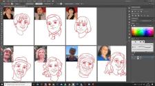 портреты в векторе