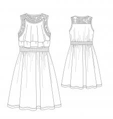 Технический эскиз платья