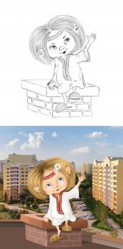 """Персонаж """"Домовёнок"""" для рекламы жилого комплекса"""