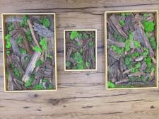 Декор из стабилизированного мха и обломков древеси
