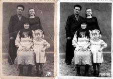 Восстановление старых чёрно белых  фотографии.