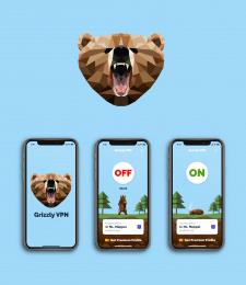Логотип и иллюстрации для VPN приложения