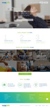 Дизайн сайта TASKERS