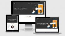 "Дизайн сайту ""Lozovan Vitalii"""