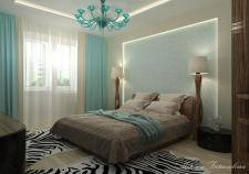Спальня в современном стиле с елементами Екзотики