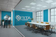 Логотип в дизайне офиса