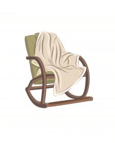 Векторная иллюстрация кресло-качалка
