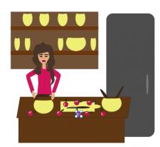 бизнес-женщина кулинар шоу