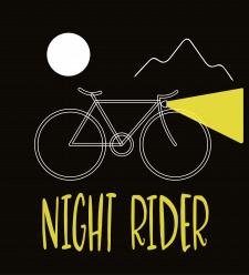 Night Rider векторная иллюстрация