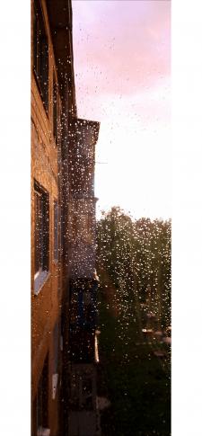 Обработка фотографии пейзажа во время дождя