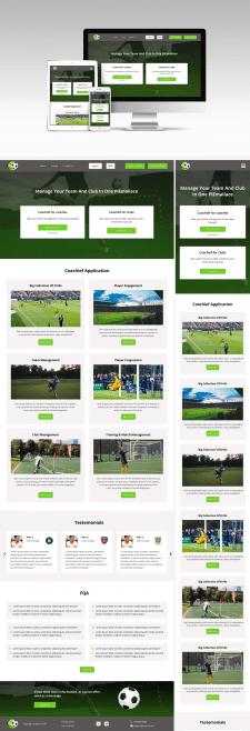 Дизайн landing page футбольной тематики