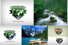 Логотип лагеря на природе в США