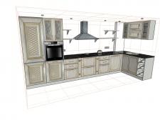 Разработка чертежей кухонного гарнитура.