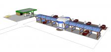 Создание 3D модели автомойки и запраки