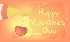 """Открытка """"День Святого Валентина""""Adobe Illustrator"""