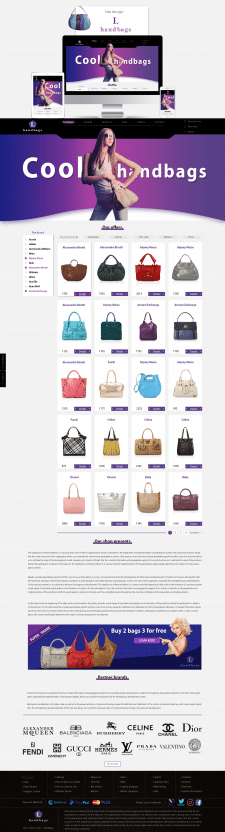 Site design L handbags