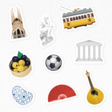 Иконки эмодзи для языковой школы