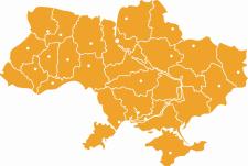 Карта Украины.