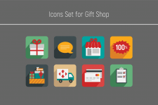 Icons set for shop