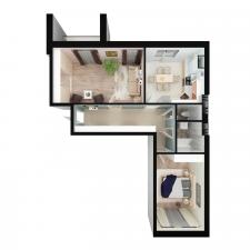 Моделирование и визуализация. 3Д-план. Квартира