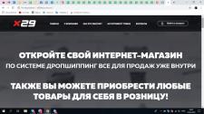 Доработка сайта крупной дропшиппинговой сети x29