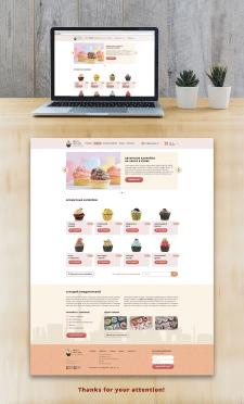 Дизайн для онлайн магазина капкейков