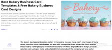 Bakery Business Card Templates & Free Bakery