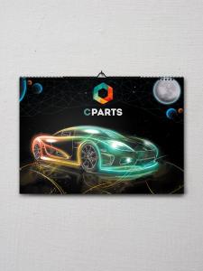 Календарь для компании Cparts