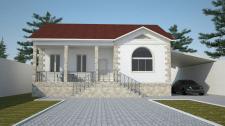 Фассад одноэтажного дома