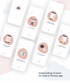 Onboardings screens for Food App