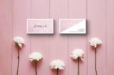 Визитки для салона красоты Xnails