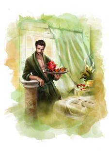 Персонаж  для рекламной компании чая Кёртис
