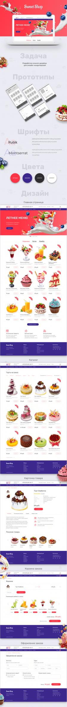 Дизайн онлайн-кондитерской