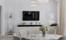 Квартира в классическом стиле (гостиная)