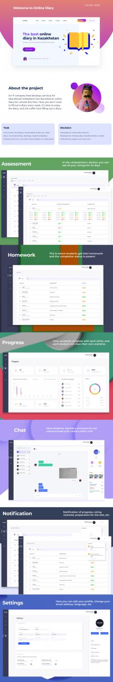 Kundelik — дизайн интерфейса для онлайн-дневника