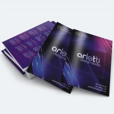 Дизайн карманного календаря для студии Арлетти