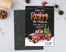 Дизайн приглашения на вечеринку к Рождеству.